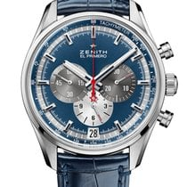 Zenith El Primero 36'000 VpH Steel 42mm Blue No numerals United States of America, New York, New York