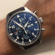 IWC Pilot Chronograph Çelik 43mm Mavi Arapça Türkiye, Bursa