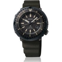 Seiko Prospex Steel 46,7mm Black No numerals