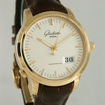 Glashütte Original Senator Panorama Date Red gold 40mm Silver