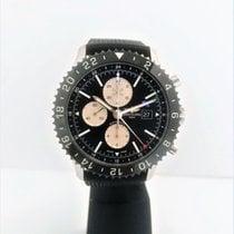 Breitling Chronoliner Stahl 46mm Schwarz Keine Ziffern
