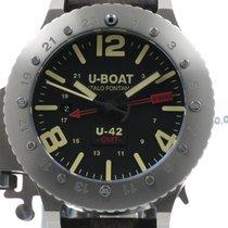 U-Boat nieuw Automatisch Lichtgevende indexen Draaibare lunette Limited edition Geschroefde kroon Originele staat/Originele delen Lichtgevende indexen 50mm Titanium Saffierglas