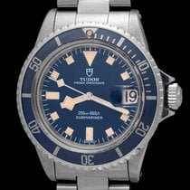 Tudor Steel Automatic Blue No numerals 40mm pre-owned Submariner