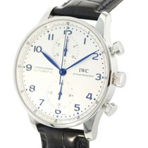 IWC Portuguese Chronograph Staal 40.9mm Zilver Arabisch