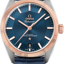 Omega 130.23.39.21.03.001 Gold/Steel 2021 Globemaster 39mm new United States of America, New York, Airmont