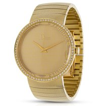 Dior Le D De Dior Diamond Unisex Watch in 18KT Yellow Gold