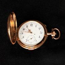 Longines 14 kt 585 Gold Savonette Taschenuhr Chronograph ...