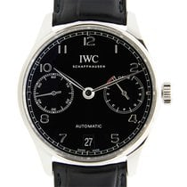 IWC Portuguese Stainless Steel Black Automatic IW500703