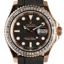 Rolex Yacht-Master 40mm Everose Gold 116655 Diamond Bezel