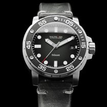 Nauticfish Ατσάλι 43mm Αυτόματη Thûsunt zwarz vintage w/ Leather Strap καινούριο
