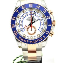 Rolex Yacht-Master II Goud/Staal 44mm Wit