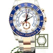 Rolex Yacht-Master II Or/Acier 44mm Blanc