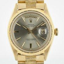 Rolex Day-Date President, Ref 1807, 18K Gold, Bark Bezel
