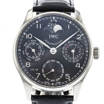 IWC Portuguese Perpetual Calendar IW5022-18 Watch with Leather...