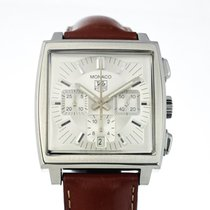 TAG Heuer Monaco Chronograph Automatic Silver Dial with Papers