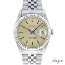Rolex Chronometer 36mm Automatic 1990 pre-owned Datejust (Submodel) Silver