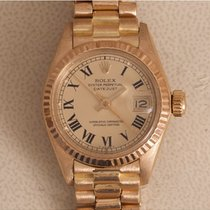 Rolex Yellow gold Automatic Gold Roman numerals 26mm pre-owned Lady-Datejust