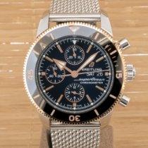 Breitling Superocean Héritage II Chronographe Gold/Steel 44mm Black United Kingdom, Southampton