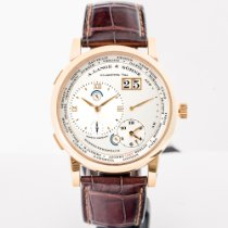 A. Lange & Söhne Rose gold Manual winding Silver Roman numerals pre-owned Lange 1