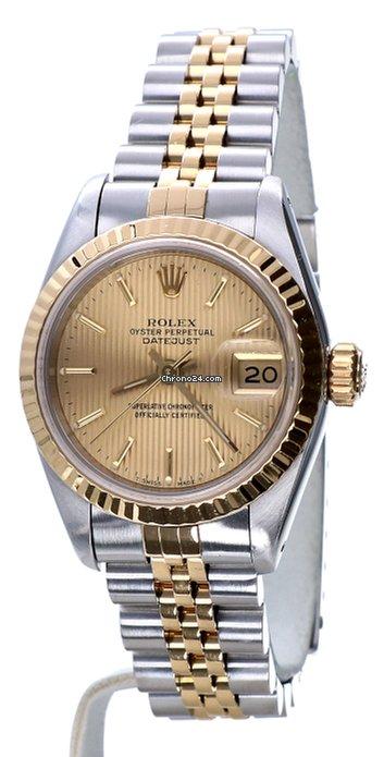 zo goedkoop specifiek aanbod outlet winkel Rolex Oyster Datejust Jubilee Gold Steel Tapestry Dial 26 mm