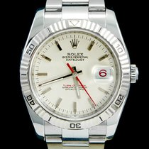 Rolex Datejust Turn-O-Graph Staal 36mm Wit Geen cijfers