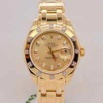 Rolex Lady-Datejust Pearlmaster Yellow gold 29mm Champagne United States of America, New York, New York