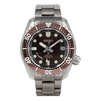 Seiko pre-owned Automatic 44.8mm Brown Sapphire crystal