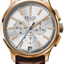 Zenith Captain Chronograph Rose gold 44.5mm Silver United States of America, New York, Brooklyn