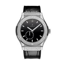 Hublot Classic Fusion 42mm Hand Wind Titanium Mens Watch...