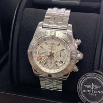 Breitling Chronomat GMT Steel 44mm Silver No numerals