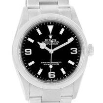 Rolex Explorer I Black Dial Oyster Bracelet Mens Watch 114270