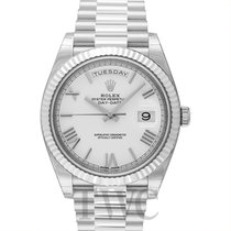 Rolex Day-Date 40 Oro blanco 40.00mm Blanco