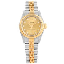 Rolex Oyster Perpetual Steel Yellow Gold Diamond Ladies Watch...