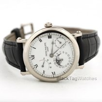 Patek Philippe Calendar Power Reserve Moon Phase Officer's