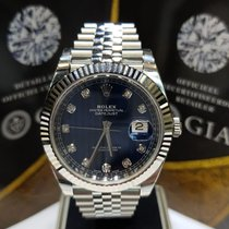 Rolex Datejust blue diamond dial