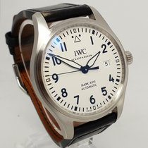 IWC Pilot Mark XVIII Mens Steel White Dial 40mm Watch