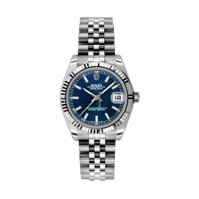 Rolex 178274 Datejust 31mm Blue Dial Jubilee Bracelet Ss Wg