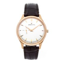 Zenith Elite Ultra Thin Rose gold 40mm Silver No numerals United States of America, New Jersey, Princeton