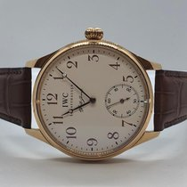 IWC Portuguese Hand-Wound Rose gold 43mm White