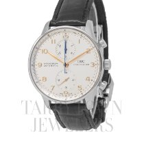 IWC Portuguese Chronograph Steel 41mm Silver Arabic numerals United States of America, New York, Hartsdale