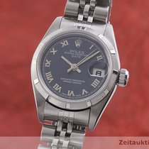 Rolex Oyster Perpetual Lady Date Ατσάλι 26mm Μπλέ