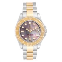 Rolex Yacht-Master pre-owned 35mm Mother of pearl Date Gold/Steel