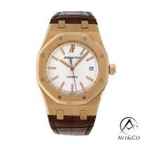 Audemars Piguet Royal Oak Selfwinding Rose gold 39mm Silver No numerals