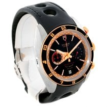 Tudor Grantour Fly-back Chrono Steel Rose Gold Watch 20551n...