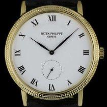 Patek Philippe 18k Y/G White Porcelain Roman Dial Calatrava 3919J