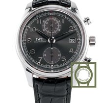 IWC Portugieser Chronograph Classic Ardoise Dial Leather NEW
