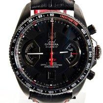 TAG Heuer Grand Carrera tweedehands 43mm Zwart Chronograaf Datum Krokodillenleer