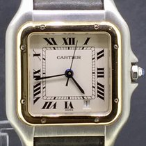 Cartier Panthere Gold/Steel 26MM Leather Strap Quartz BOX ONLY