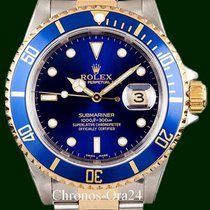 Rolex Submariner Date 16613 MINT Gold Steel Clasp B&P
