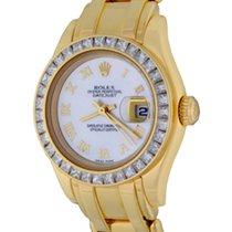 Rolex Lady-Datejust Pearlmaster Oro amarillo 28mm Madreperla Romanos